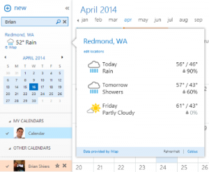 Weather Bar for Outlook Online